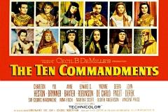 Les dix commandements, l'affiche du film de Cécil B. de Mille - wikimedia commons (domaine public)