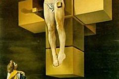 Salvador Dali, crucifixion (corpus hypercubus), 1954 - wikimedia commons (fair use)