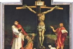 Matthias Grunewäld, crucifixion, 1512-1516 (panneau central, retable d'Issenheim) - wikimedia commons (domaine public)