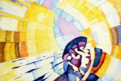 Kupka, la forme du jaune (Notre-Dame), détail - SL