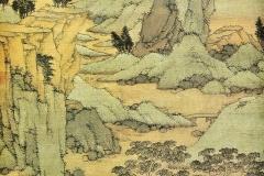 Paysage chinois traditionnel autour du vide et du plein - SL