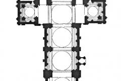 Plan en croix de la Cathédrale Saint Pierre d'Angoulême - SL