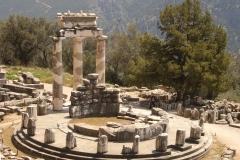 Temple de l'oracle à Delphes en Grèce - SL