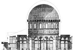 Plan du Dôme du Rocher à Jérusalem -wikipedia commons, domaine public