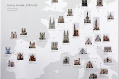 Markus Brunetti, carte des façades d'édifices religieux célèbres, exposition Arles, 2015 - SL