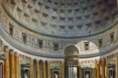 L'intérieur du panthéon de Rome au 18ème siècle selon Panini - wikimedia commons -domaine public