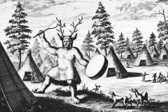 Danse chamane sibérien, Nicolaes Witsen, 17ème siècle - wikimedia commons, domaine public