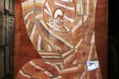 Serpent arcobaleno cornuto, John Mawurndjul, 1991 - wikimedia commons