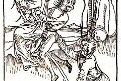 Ulrich Molitor, sorcières se rendant au sabat, 1488 - wikimedia commons, domaine public