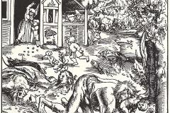 Lucas Cranach l'Ancien, le loup garou, 1512 - wikimedia commons, domaine public