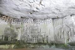 Grottes de l'abbaye de Brantôme - bas-relief du Jugement dernier - wikipedia commons, Père Igor, CC BY-SA 4.0