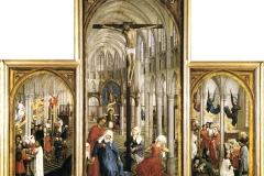 L'autel des 7 sacrements, Rogier van der  Weyden, 15ème siècle - wikimedia commons, domaine public