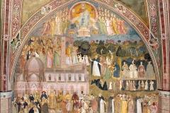 L'église militante et l'Église triomphante, fresques d'Andrea Bonauto , chapelle des espagnols, 14ème - wikimedia commons, domaine public