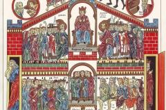 La sainte Église (Regina Ecclesia), Le jardin des délices, 12ème siècle - wikimedia commons, domaine public