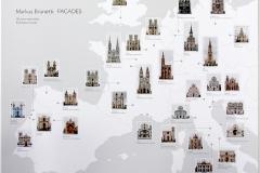 Markus Brunetti, carte des façades d'édifices religieux célèbres, exposition Arles 2015 - SL