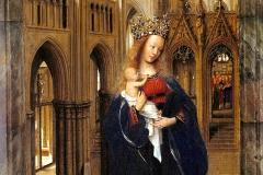 Vierge à l'enfant dans une église, 1440, Van Eyck - wikimedia commons, domaine public