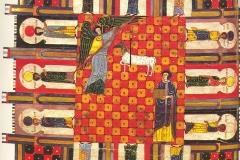 Nouvelle Jerusalem, l'Apocalypse de Jean, Beatus de Liébana, 8ème siècle, wikimedia commons, domaine public