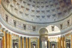 Le Panthéon d' Hadrien, Rome, Giovanni Paolo Panini, 1734 - wikimedia commons, domaine public