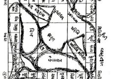 Plan  de temple hindouiste Vâstu Purusha - wikimedia commons, domaine public