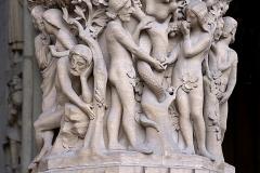 Adam et Eve, cathédrale Notre Dame de Paris, 13ème siècle - SL2016