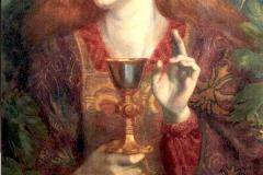 La Demoiselle du St Graal, Gabriel Rosseti, 1860 - wikimedia commons, domaine public