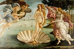 Naissance de Vénus, Sandro Botticelli, 1485 - wikimedia commons, domaine public