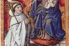 Bernard de Clairvaux, lactation, 12ème siècle - wikimedia commons/domaine public