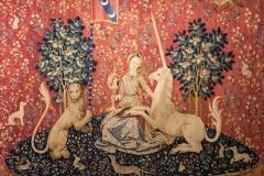 La Dame à la licorne, tapisserie La vue, 15ème siècle - musée de Cluny - SL