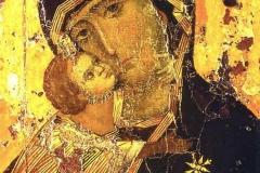 Vierge de Vladimir, 12ème siècle, galerie Tretyakov - wikimedia commons, domaine public
