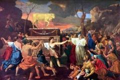 L'adoration du veau d'or, Nicolas Poussin, 17ème siècle - wikimédia commons, domaine public