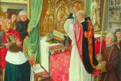 Messe de St Gilles, Maître de St Gilles, vers 1500 - wikimedia commons, domaine public