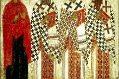 Père de l'Eglise, icône russe, 15ème siècle - wikimedia commons, domaine public