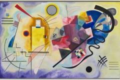 Jaune, rouge, bleu, Vassily Kandinsky. Musée National d'Art Moderne, Paris, France. Donation Nina Kandinsky 1976. AM 1976-856