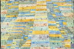Chemin principal et chemins latéraux, Paul Klee, 1929 - wikimedia commons, domaine public