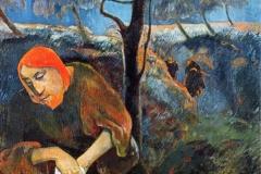 Le Christ au jardin des oliviers, Paul Gauguin, 1889 - wikimedia commons, domaine public