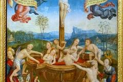Le bain mystique, détail, Jean Bellegambe, 16ème siècle - wikimedia commons, domaine public