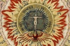 Le Christ céleste, Amphithéâtre de la Sagesse éternelle, détail, Heinrich Khunrath, 16ème siècle - wikimedia commons, domaine public