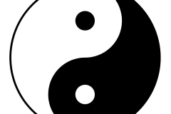 Symbole du Yin et du Yang - wikimedia commons, domaine public