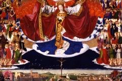 Le couronnement de la Vierge, Enguerrand Quarton, 1454 - wikimedia commons, domaine public
