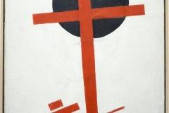 La croix rouge sur un cercle noir, Kasimir Malévitch, 1915 - SL