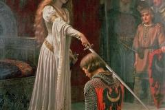 L'adoubement, Edmund Blair Leighton, 1901 - wikimedia commons, domaine public