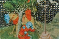 Lancelot et le Graal, miniature 15ème siècle - domaine public