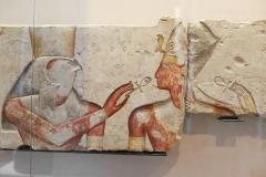 Ramses II parmi les dieux, musée du Louvre, 1275 av. J.C. - SL