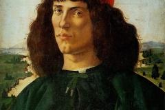 Portrait d'un jeune homme avec médaille de Cosme de Médicis l'Ancien, Sandro Botticelli, 1475 - wikimedia commons, domaine public