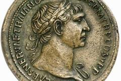 Monnaie romaine, sesterce de Trajan, 105 après J.C. - wikimedia commons, by Classical Numismatic Group CC BY SA 3.0