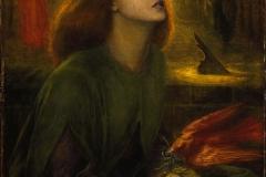 Beata Béatrix, Dante Gabriel Rossetti, 1870 - wikimedia commons, domaine public
