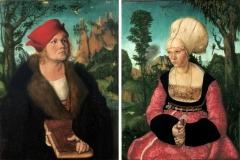 Dr Cuspinian et sa femme, Lucas Cranach l'Ancien, 1502  - wikimedia commons, domaine public