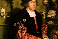 Georg Giese, un marchand allemand à Londres, Hans Holbein le jeune, 1532 - wikimedia commons, domaine public