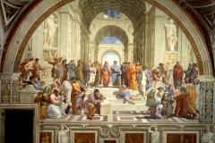 L'Ecole d'Athènes, Raphaël, 1512 - wikimedia commons, domaine public