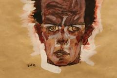 Autoportrait, Egon Schiele, 1910 - SL  2109